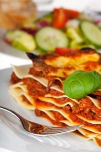 Lasagne Nudelgericht